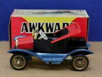 Vintage Hong Kong Plastic Friction Awkward Car Ford T 4 1/2 MIB NOS 60s