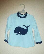 L.L. Bean Sweater Toddler 2T Hip Nautical Blue Whale