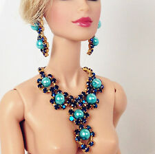 handmade jewelry Earrings Necklace for barbie silkstone fashion royalty dolls 6