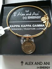 Charm Bangle New W/Tag Card & Box Alex and Ani Kappa Kappa Gamma Gold Tone