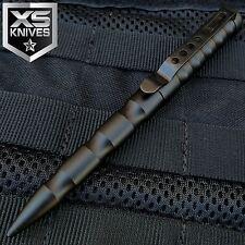 JTEC Aluminum Tactical Pen BLACK Glass Breaker Self Defense Security M7
