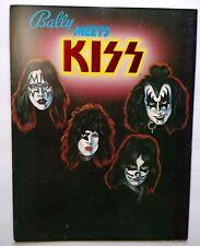 KISS Pinball FLYER Original 1979 Rock Music Bally Foldout Art Gift For Game Fans