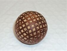 Antique Mesh Golf Ball Square Dimple Gutty Darcy's Puritan mark