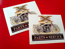 EXCELSIOR AUTO CYCLE Parts & Service Vintage Retro Stickers Decals 2 off 80mm