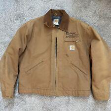 Vintage Carhartt Detroit Jacket USA MADE 46 Duck Canvas Blanket Lined READ DESCR