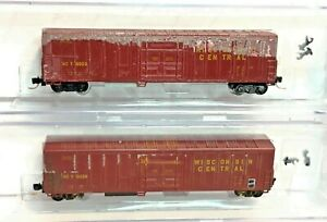 2 ROUNDHOUSE N SCALE ~ 57' MECHANICAL REEFER ~WISCONSIN CENTRAL WC 10039 & 10023
