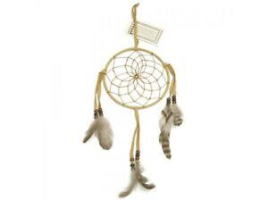 Light Brown Navajo Dream Catcher with 6 inch diameter Hoop, catches bad dreams