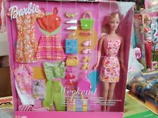 Rare 2000 International Barbie Weekend Style Doll Fashions & Accessory Gift Set