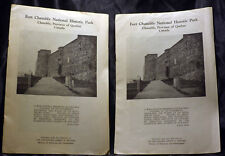 LOT 2 Vintage 1951 Fort Chambly National Historic Park Quebec Canada Brochure
