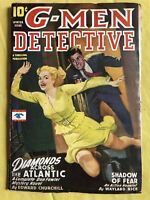 G-Men Detective Winter 1946 Pulp Shadow of Fear Wayland Rice