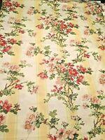 Ralph Lauren Fabric Floral Yellow Burgess Park 4 Yards Shabby Chic