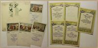 Orig. Prospekte Sammlung 12 Menükarten um 1925 Speisekarte Gastronomie sf