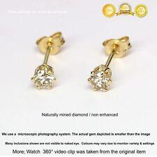0.2 ct Brillant Cut Real Diamonds 14K Solid Yellow Gold  Pair Stud Earrings