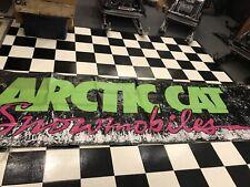 Vintage Arctic Cat Snowmobile Dealer Banner