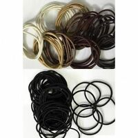 Thin Elastics Snag Free Hair Bands Ponytail Bobbles Ponios Black & Brown 50x