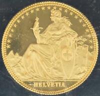 Swiss 1986 Switzerland 1/10 oz 999.9 Gold Helvetia Eternal Pact Proof Matterhorn