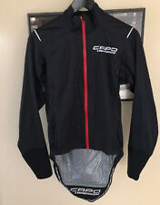 "Capo Lombardia Women's Small DWR Race Rain Jacket 17"" Pit To Pit NWOT Quality"