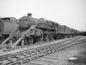 6 x 6 Railway Negative: Withdrawn Std 5MT 73082 at Barry Scrapyard      30/282a7