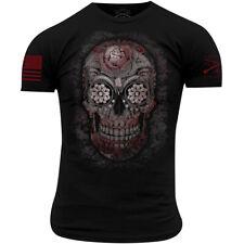 Grunt Estilo Azúcar Calavera Camiseta-Negro