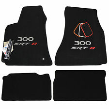 2005-2010 Chrysler 300 SRT8 Floor Mats - Silver & Red Logos - 32oz 2 Ply - USA