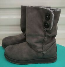 Skechers Memory Foam Boots   size 5   WORN ONCE!   GREY   Excellent Condition