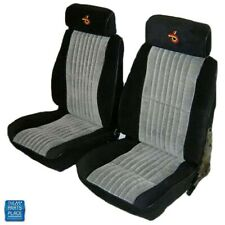1985-1987 Grand National Front Bucket Seat Covers Pallex Cloth Black & Gray Pair
