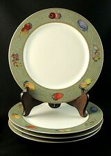 """RAVENNA by Sasaki BREAD and BUTTER Green PLATES 6 1/2"""" Stephen Dweck - Set of 4"""