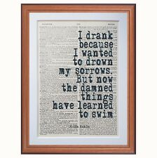 Frida Kahlo quote dictionary page art print - gift print reading literary