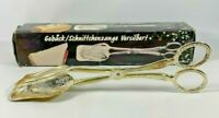 Vintage Silver Plated Cake Pastry Scissor Serving Tongs By Versilbert w Box