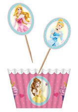 Disney Princess Cupcake Kit Holder & Topper 24PK AWE2094 Party Supplies Muffin