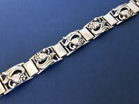 Vintage Danish Munksgaard Sterling Silver Panel Bracelet