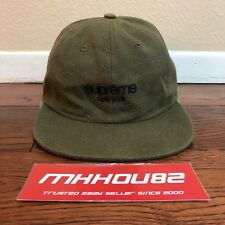 New Supreme Napped Canvas Classic 6-Panel Cap Hat Camp Olive Fall Winter 18 FW18