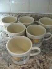 6 CORELLE Corning ABUNDANCE Fruit PEACHES Coffee Mugs
