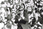 "Vintage JFK John Kennedy Wearing Sun Glasses with Crowd Behind 4""X6"" Photo #15"
