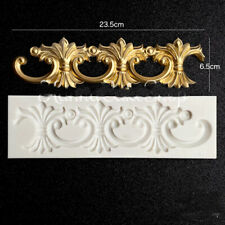Vintage Relief Silicone Fondant Mould Baking Cake Baroque Border Mold Tool Decor