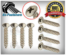 "Sheet Metal Screws Oval Head Phillips Drive self tapping SS #8 x 1"" Qty 100"