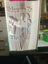 Book Art Folding PATTERN Welcome To The World Cut And Fold #619