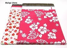 20 MIX 2 FLOWERS DESIGNER 10 x 13 MAILER POLY MAILING SHIPPING BAGS Des: 4 & 5