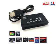 USB 2.0 LECTEUR ADAPTATEUR CARTE MEMOIRE SD SDHC Mini Micro M2 MMC XD MS TF