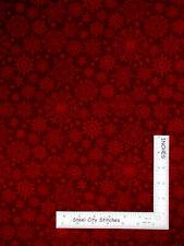 Christmas Tonal Snowflakes Dk Red Cotton Fabric Benartex Festive Season By Yard