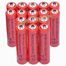 16 pcs AAA 3A 1800mAH 1.2V Ni-MH Red Color Rechargeable Battery Cell
