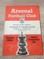 Arsenal v Sunderland 1950/51