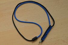 Paracord Neck Lanyard/ Keyring for ID/ Keys, Map & Compass (Black & Blue)