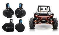 "2 Rockville RWB65B 6.5"" Rollbar Tower Speakers+Covers for Polaris RZR/ATV/UTV"