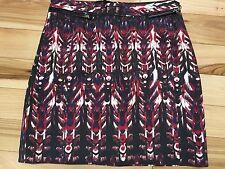 H&M Feather Pattern SKIRT Sz 4 Women Cotton/Polyamide/Elastane