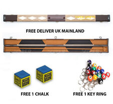 3/4 Snooker Pool Hard Cue Case Free Chalk Free Snooker Ball Key ring (Any NO)