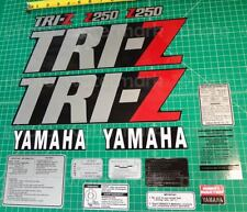 1985 85' TRI-Z 250 Yamaha Met. Silver/Black 5spd Decals Graphics Stickers 16pc