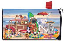 Dog Days of Summer Mailbox Cover Beach Dog Humor Station Wagon Briarwood Lane