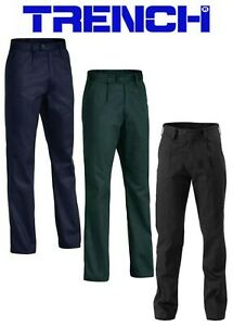 Cotton Drill Work Trousers - Navy or Black or Bottle Green