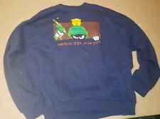 Looney Tunes Marvin Martian Sweatshirt Long Sleeve Xl Vintage Top